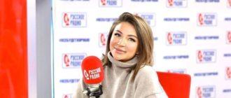 Елена Блиновская у микрофона на русском радио