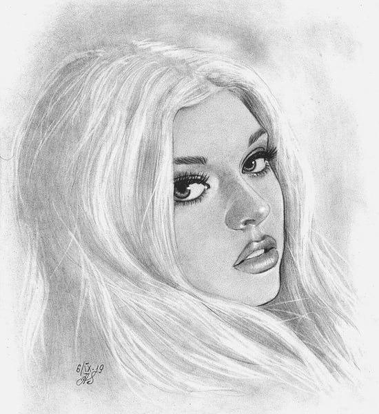 Loren Gray рисунок карандашом