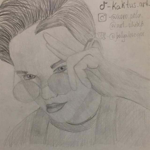 Рисунок Егора Шипа карандашом
