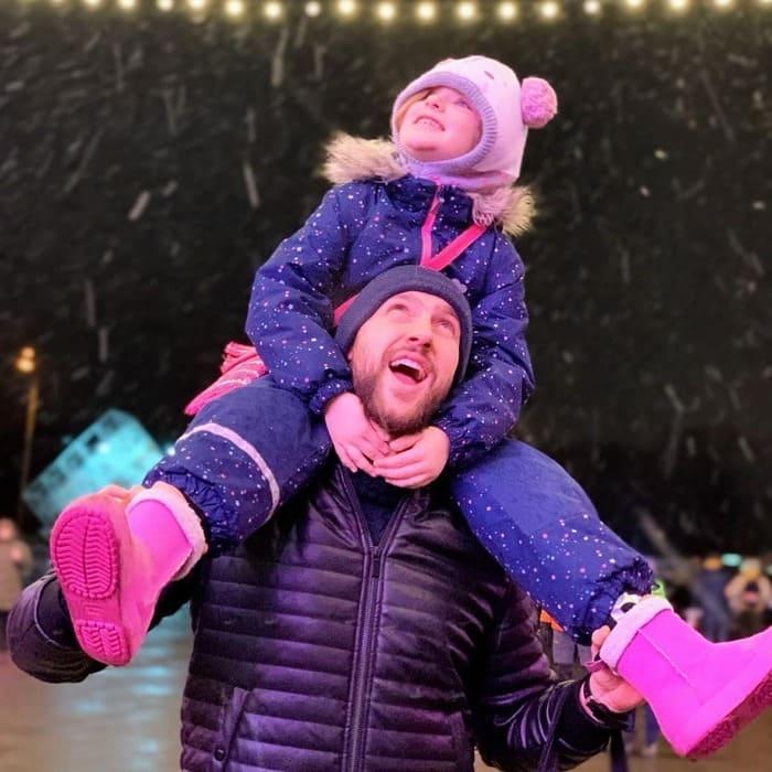 Олег Кензов с дочкой